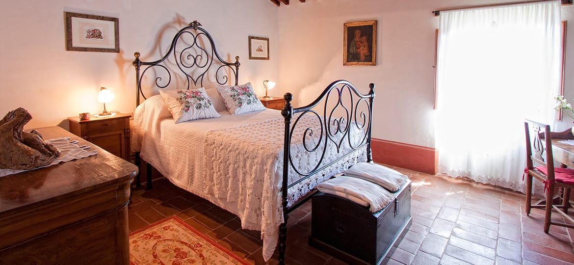 Mulino a Vento | One of the bedrooms at the Agriturismo